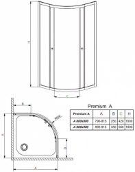 Кабина с поддоном Radaway Premium 90x90