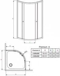 Акция Кабина с поддоном Radaway Premium 90x90