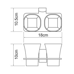 Подстаканник двойной стеклянный Wasserkraft К-5228D