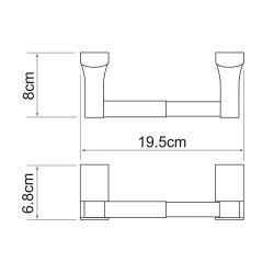 Держатель туалетной бумаги Wasserkraft К-5222