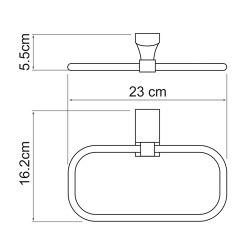 Держатель полотенец кольцо Wasserkraft К-5260