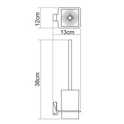 Щетка для унитаза подвесная Wasserkraft К-5227
