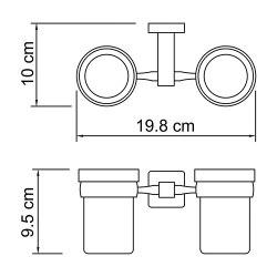 Подстаканник двойной стеклянный Wasserkraft К-6528D