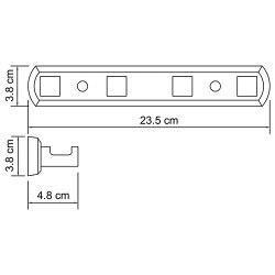 Кронштейн настенный, 4 крючка Wasserkraft К-6574