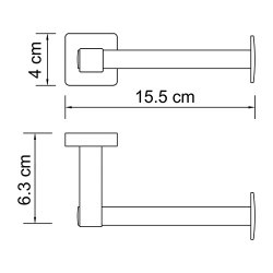 Держатель туалетной бумаги Wasserkraft К-6596