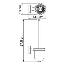 Щетка для унитаза подвесная Wasserkraft К-6527