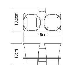 Подстаканник двойной стеклянный Wasserkraft К-5028D