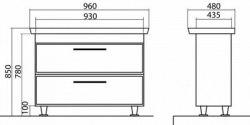 Мебель для ванной Аква Родос Паола 80, 100