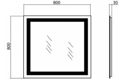 Зеркало с подсветкой Аква Родос Альфа 60, 80, 100