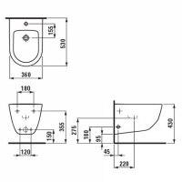 Унитаз подвесной Laufen Pro New с крышкой soft close