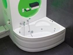 Ванна акриловая с ножками Poolspa Klio Asym 150x100