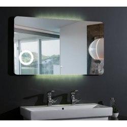 Зеркало с подсветкой Esbano ES-1831 100х70, 120х70 с линзой и часами