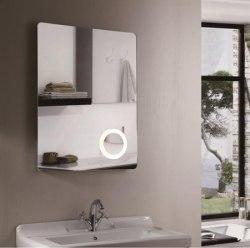 Зеркало с подсветкой Esbano ES-2070 60x80, 100x80 с линзой и часами