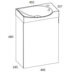Мебель для ванной Elita Ravel 45x34