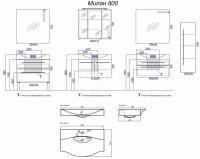 Мебель для ванной Аqwella Milan 80