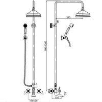 Душевая колонна со смесителем для ванны Cezares RETRO