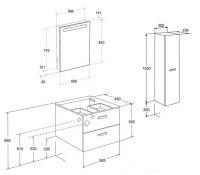 Мебель для ванной Roca Victoria Nord 60 белая