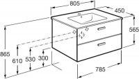 Мебель для ванной Roca Victoria Nord 80 венге