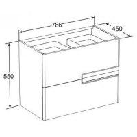 Мебель для ванной Roca Victoria Nord Black Edition 80