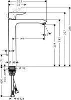 Смеситель для накладных раковин Hansgrohe Metris 31082000