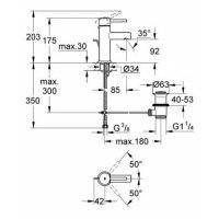 Смеситель для раковины Grohe Essence 3289800E