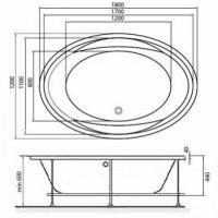 Ванна акриловая Vayer Opal 180x120