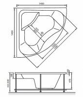 Ванна акриловая Vayer Persefona 140х140