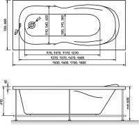 Ванна акриловая Relisan Neonika 150x70, 160x70, 170x70, 180x80