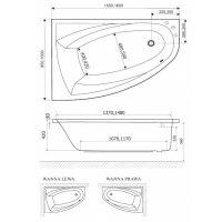 Ванна акриловая Excellent Aquaria Comfort 150х95, 160х100 (левая,правая)