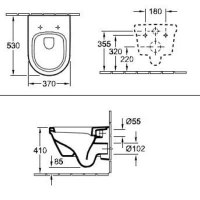 Унитаз безободковый подвесной Villeroy&Boch Omnia Architectura с крышкой soft close
