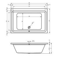 Ванна акриловая Riho CASTELLO 180X120