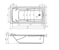 Ванна акриловая Riho CALGARY 190X90