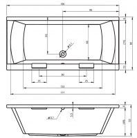Ванна акриловая Riho JULIA 160x70, 180X80, 190X90