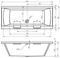 Ванна акриловая Riho MODENA 180X80,