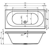 Ванна акриловая Riho CAROLINA 170X80, 180X80, 190X80