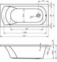 Ванна акриловая Riho MIAMI 150X70, 160Х70, 170Х70, 180Х80