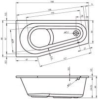 Ванна акриловая Riho DELTA 150X80, 160X80 (ЛЕВАЯ, ПРАВАЯ)