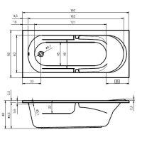 Ванна акриловая Riho FUTURE 170X75, 180X80