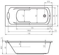 Ванна акриловая Riho VIRGO 170X75