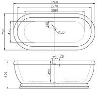Ванна акриловая BelBagno BB03 176x79