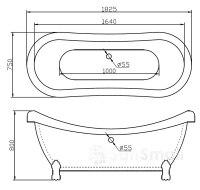 Ванна акриловая BelBagno BB05 182X75