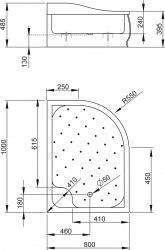 Поддон акриловый Radaway Korfu E 100x80, 120x90