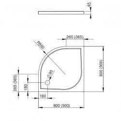 Поддон акриловый Radaway Delos A 80x80, 85x85, 90x90, 100x100