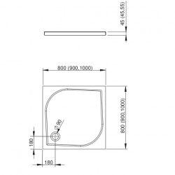 Поддон акриловый Radaway Delos C 80х80, 90х90, 100х100