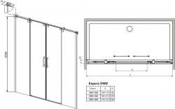 Душевая дверь Radaway Espera DWD 140, 160, 180