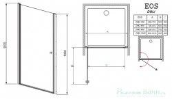 Душевая дверь Radaway EOS DWJ 70, 80, 90, 100