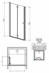 Душевая дверь складная Radaway EOS DWB 70, 80, 90