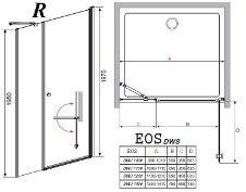 Душевая дверь Radaway EOS DWS 100, 110, 120, 140
