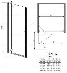 Душевая дверь Radaway Fuenta DWJ 80, 90, 100, 110, 120, 130