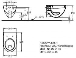 Унитаз подвесной Keramag Renova с крышкой Soft Close
